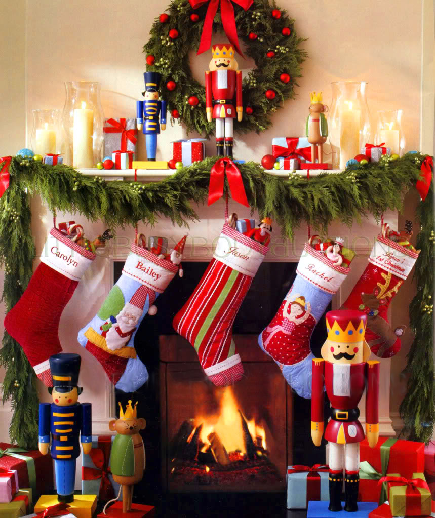 Decoraci n f cil decoracion navide a con calcetines - Decoracion navidena para negocios ...