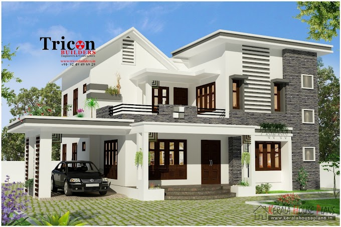 4 Bedroom  Modern house design 2355 sq.ft