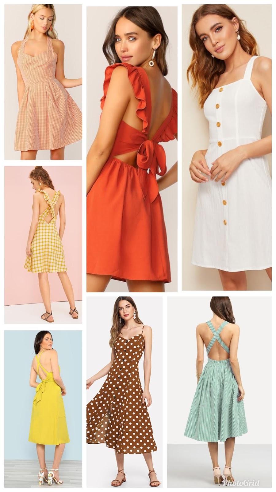 Criss cross back dresses