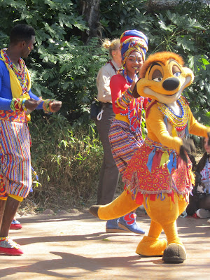 Timon and dancers in the show.