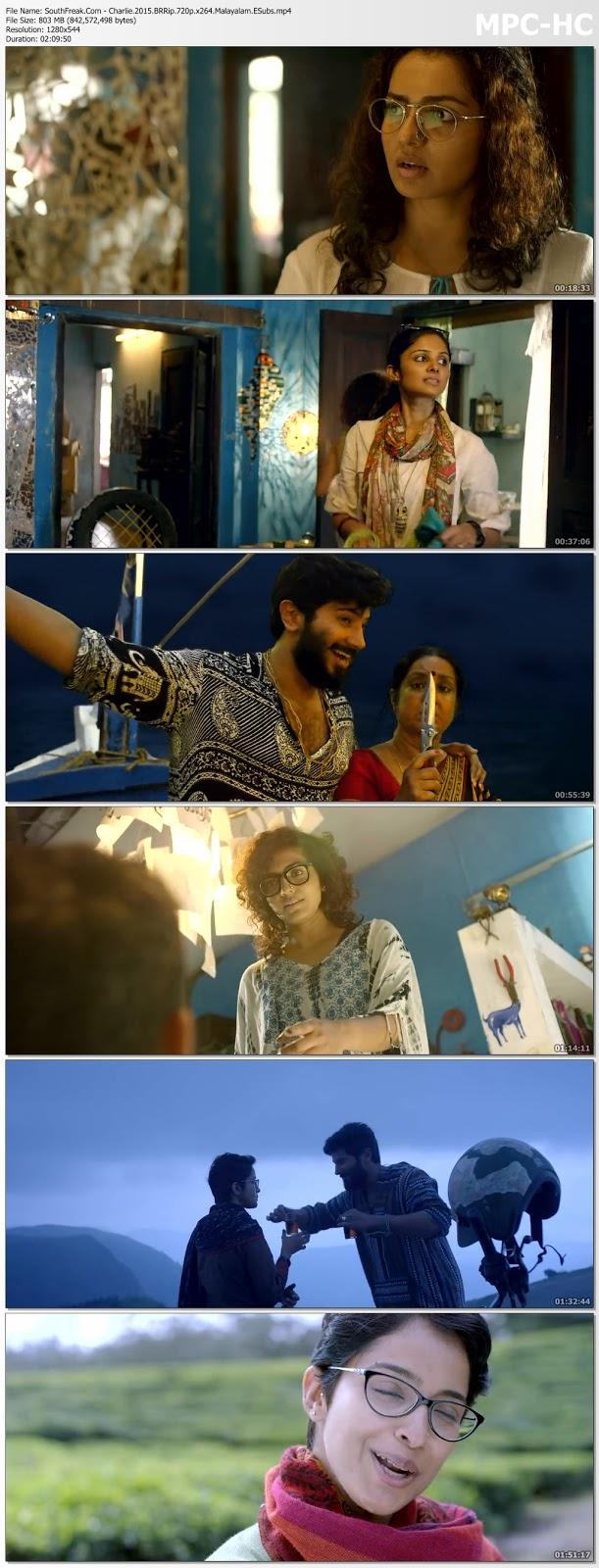 Charlie (2015) DVDRip 720p Malayalam Movie 700MB