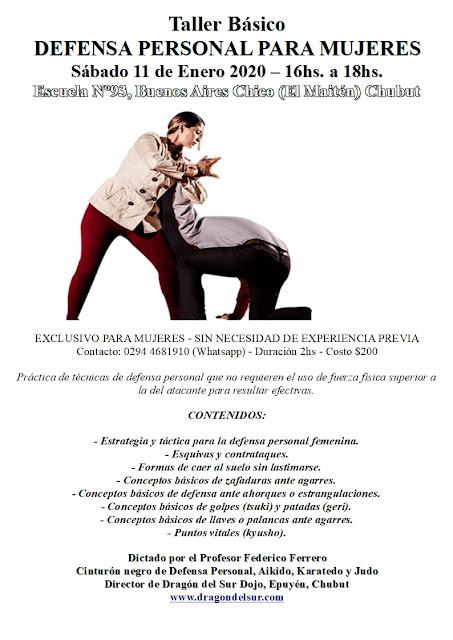 Taller Intensivo de Defensa Personal para Mujeres en Buenos Aires Chico (El Maitén)