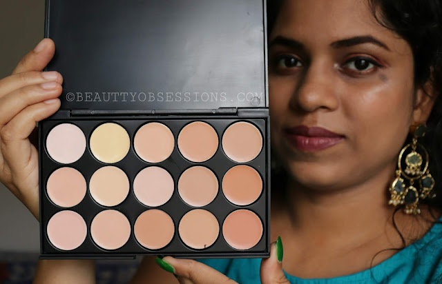 Ucanbe 15 Colours Concealer Pallete Review and Swatches   Ft. beautybigbang.com