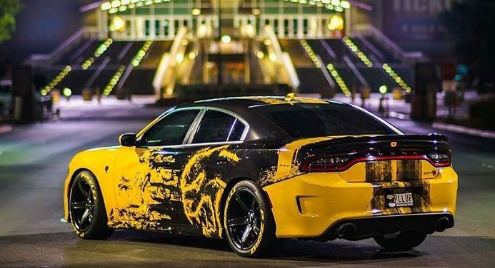 Pretty Cool Vinyl Wrap On This Hellcat Charger.  Http://www.thepicta.com/user/vegasheadturners/4350685282/1543780613295003111_4350685282