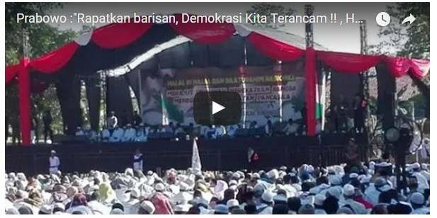 [Vidio] Seruan Prabowo: Rapatkan barisan, Demokrasi kita sedang terancam