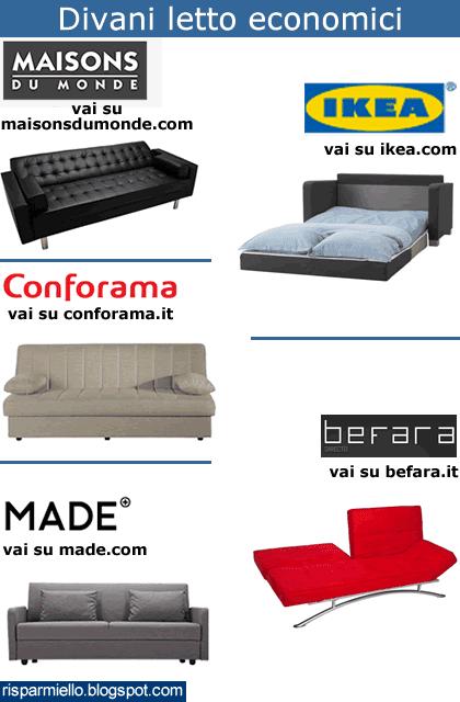 Made Divani Letto.Risparmiello Divani Letto Economici Conforama Maisons Du Monde