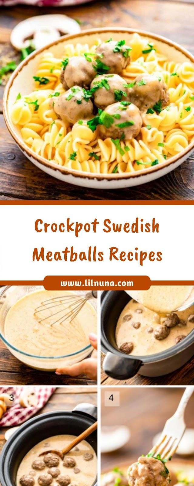Crockpot Swedish Meatballs Recipes