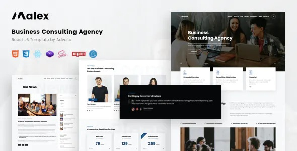 Best Business Consulting Agency React JS Template
