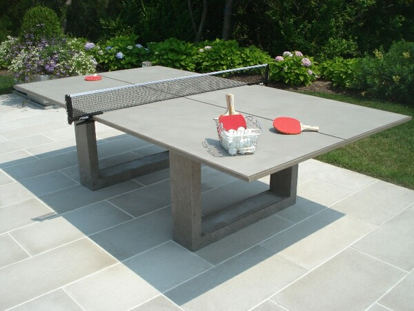 Concrete Ping Pong Dining Table By James DeWulf