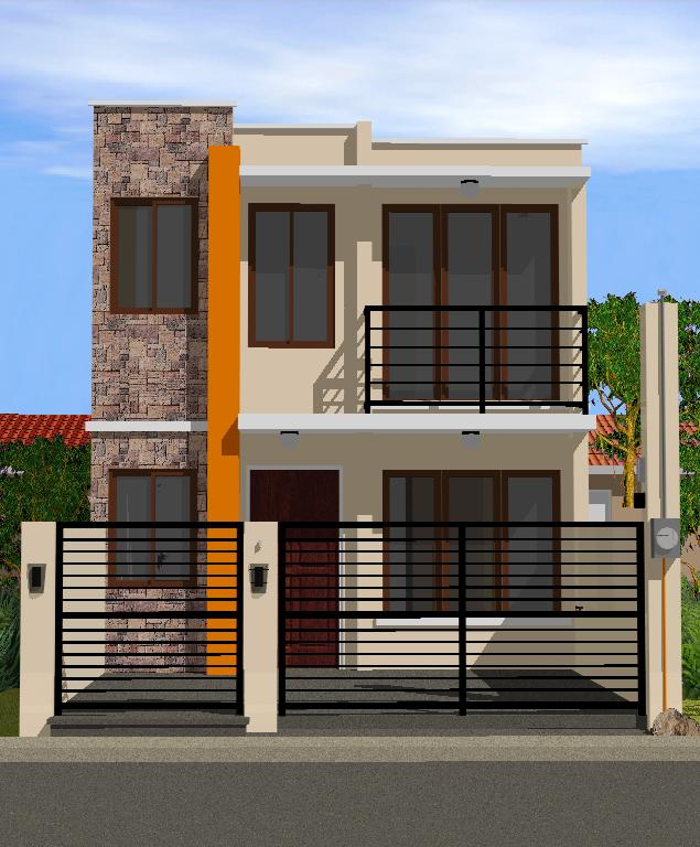 Collection 50 beautiful narrow house design for a 2 story for Cost to build a 2 story house