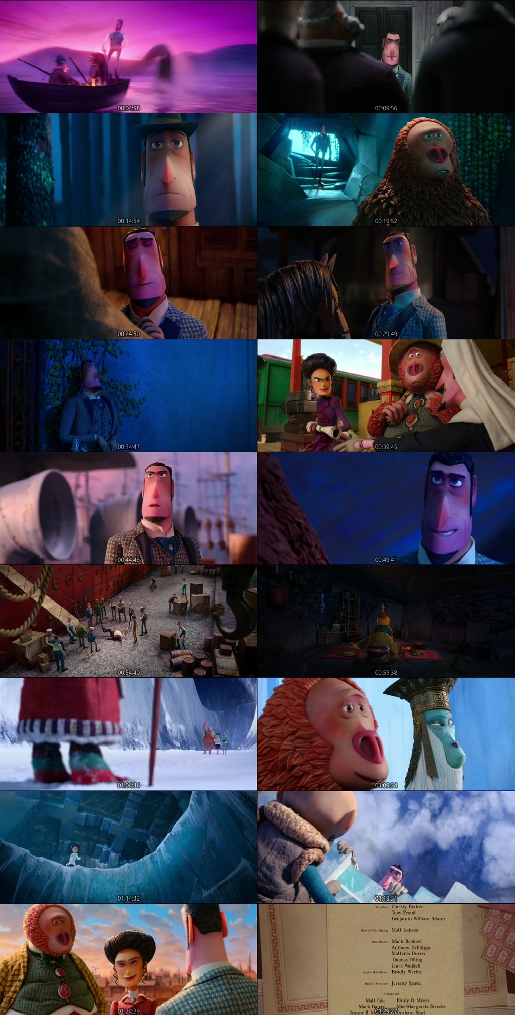 Screen Shot Of Missing Link 2018 Full Movie Download Free Watch Online 300MB