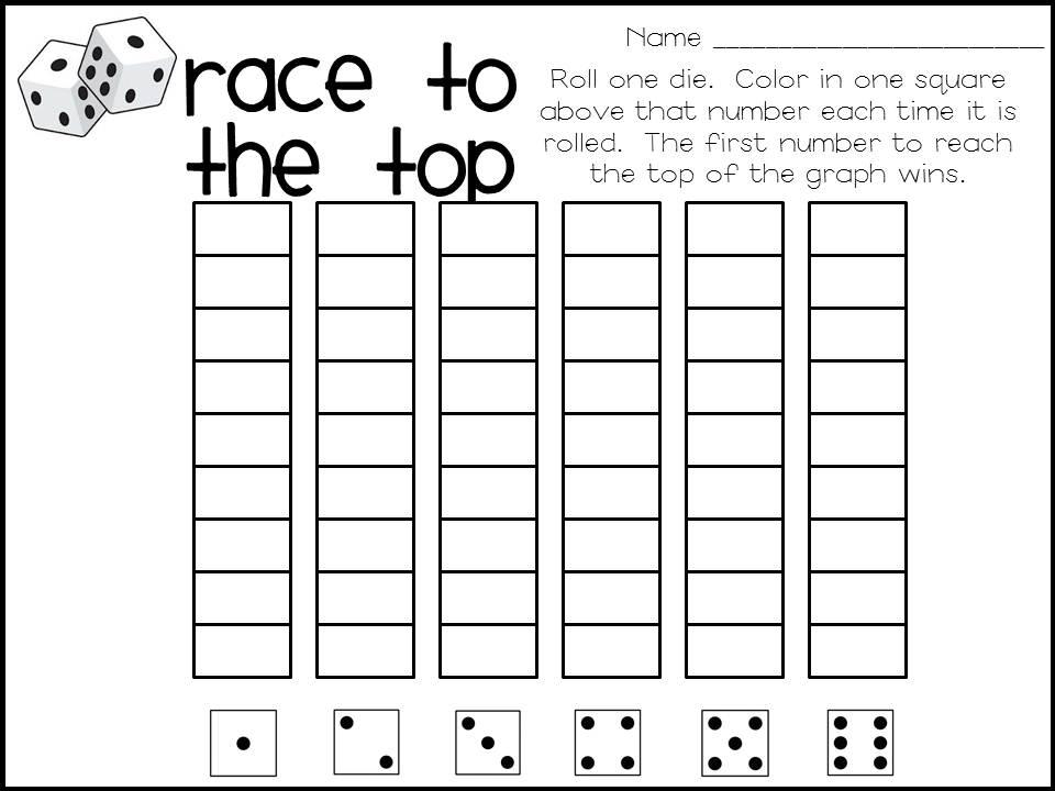 Miss Julie's Grade 1/2 Classroom: Race To The Top Math Game