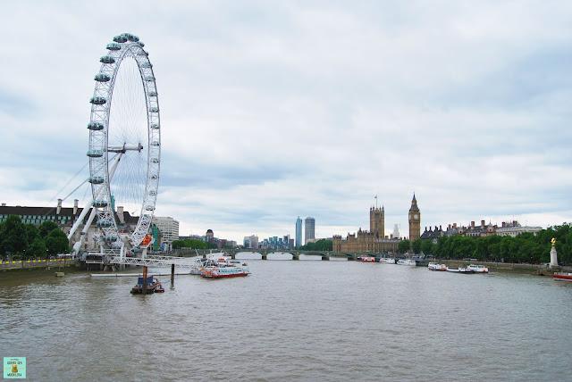 Vistas desde el South Bank de Londres