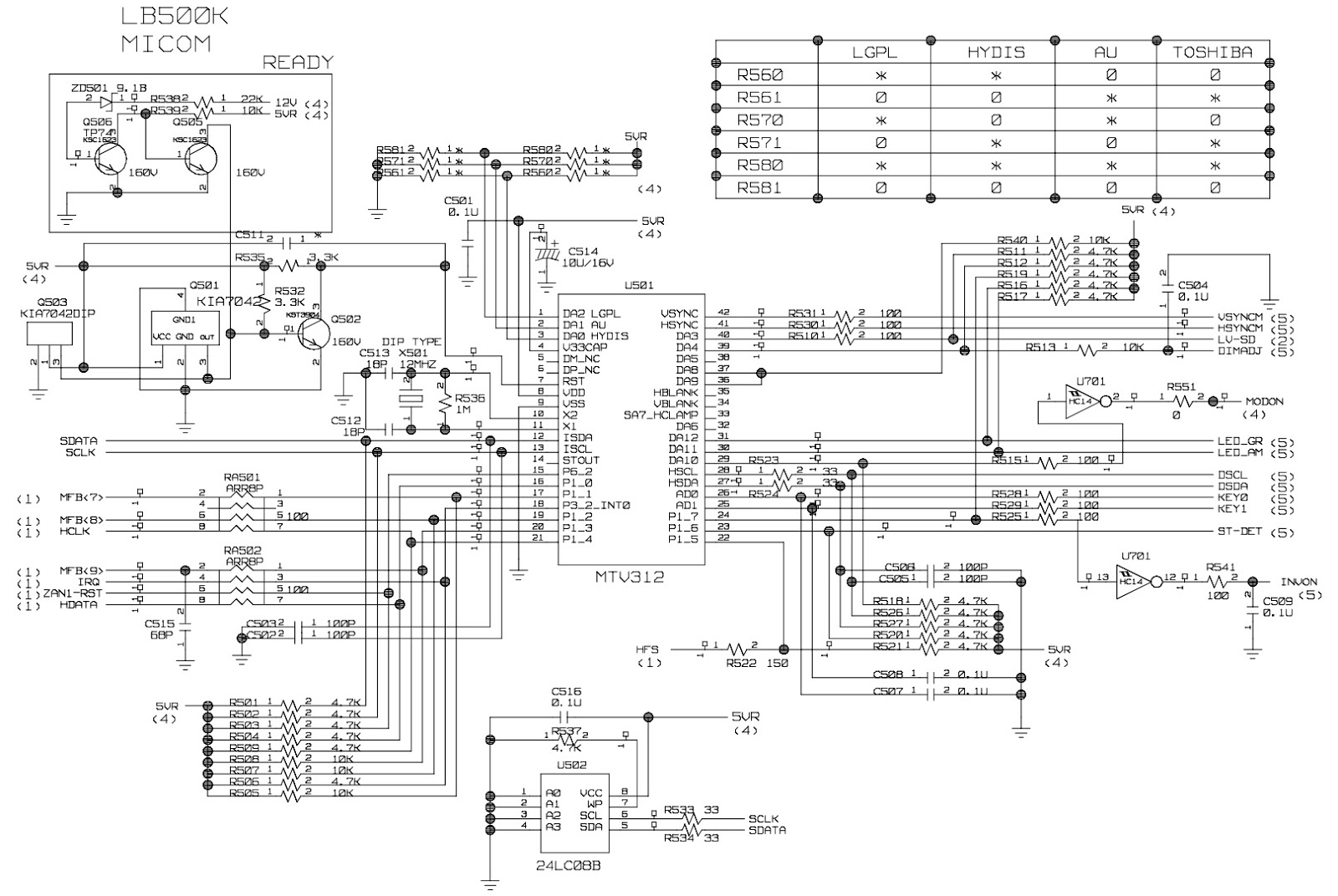 Lg Flatron L1510sf  U2013 15 Inch Lcd Monitor  U2013 Schematic