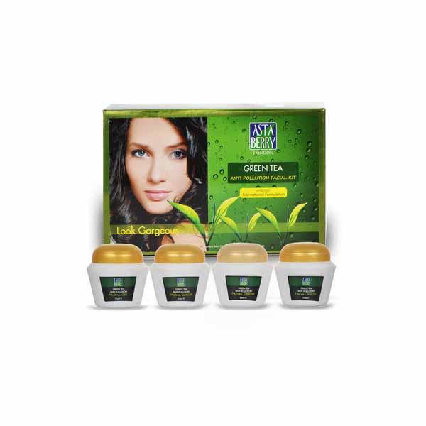Astaberry Green Tea Facial Kit  In Hindi