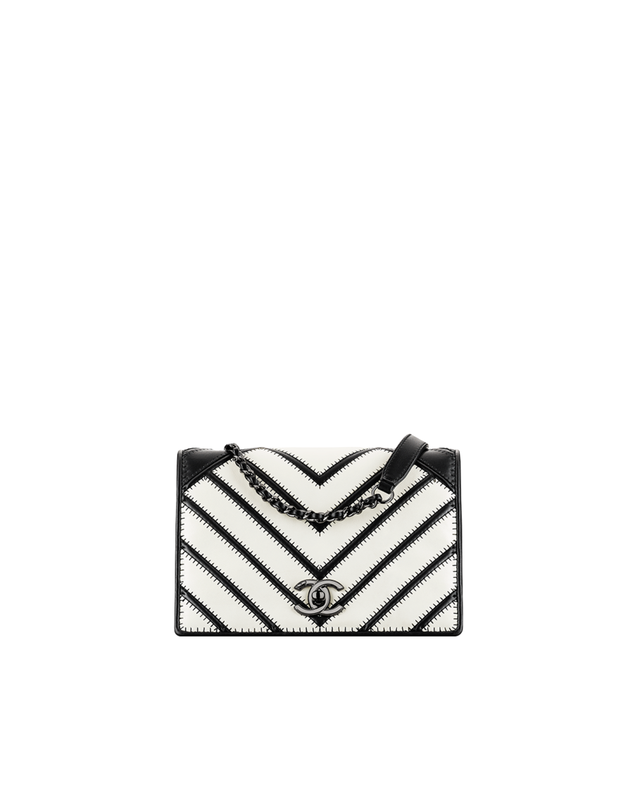 Chanel's Graphic Chevron Flap Bag