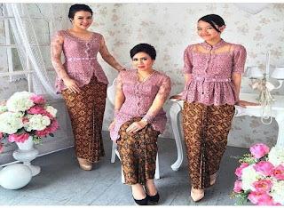 Model Baju Batik Muslim Untuk Pesta Pernikahan