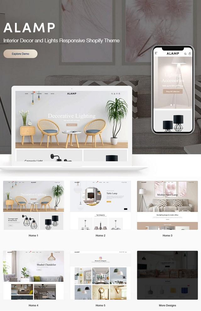 Interior Decor and Lights Responsive Shopify Theme