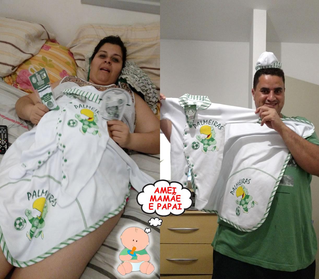 07bbd92074 Roupas De Bebe Palmeiras no Mercado Livre Brasil