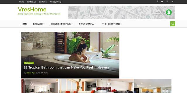 Vreshome Wallpaper Responsive Wordpress Themes