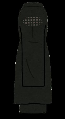 ブルカを付けたムスリムの女性のイラスト