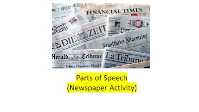 Parts of Speech (Newspaper Activity)