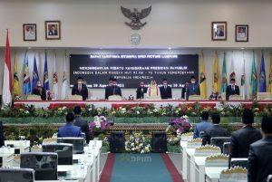 Pimpinan Pemprov Lampung Hadiri Rapat Paripurna Peringatan HUT Kemerdekaan RI ke-76