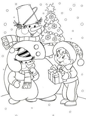 dibujos para colorear de Regalos de navidad