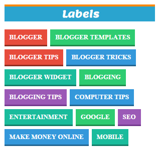 Customized Colorful Stylist Labels Cloud Widget For Blogger