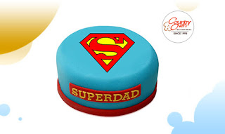 Superman Dad Photo Cake