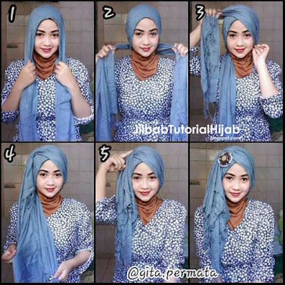 Tutorial Hijab Pashmina Simple Elegan untuk Kebaya dan Wisuda