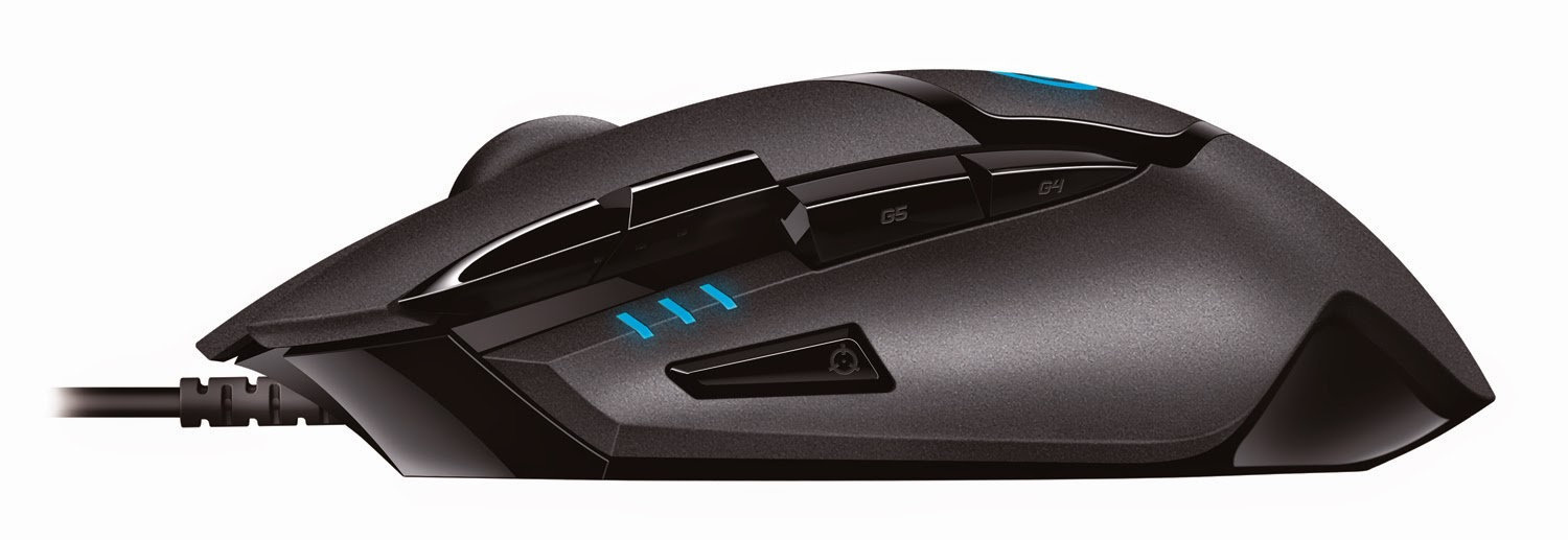 Logitech G402 Hyperion Fury Ultra-Fast FPS Gaming Mouse - left side
