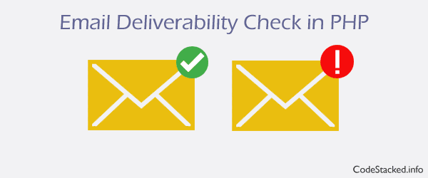 Verify Email Deliverability in PHP