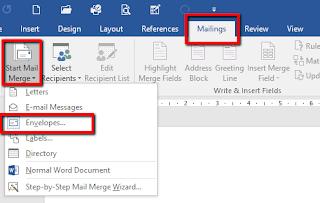 Tutorial Cara Print Amplop dengan Mail Marge Secara Massal