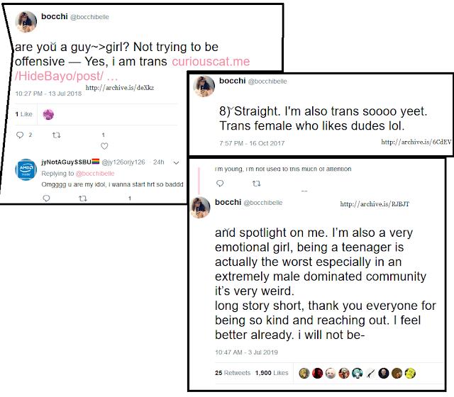 Bocchi Isabelle player transgender transfemale trans male to female bocchibelle