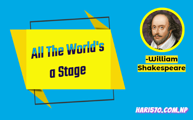 Summary of All the World's a Stage