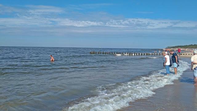 czystość morza w Dziwnowie, widok na plażę