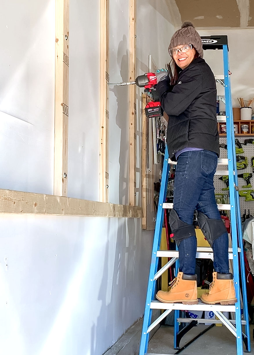 How to build a lumber rack