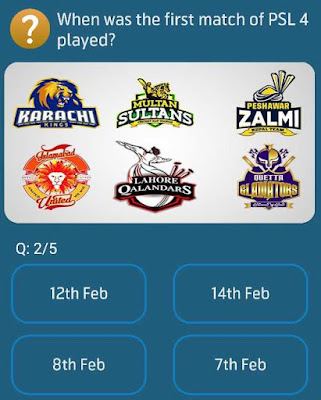 When was the first match of PSL 4 played?