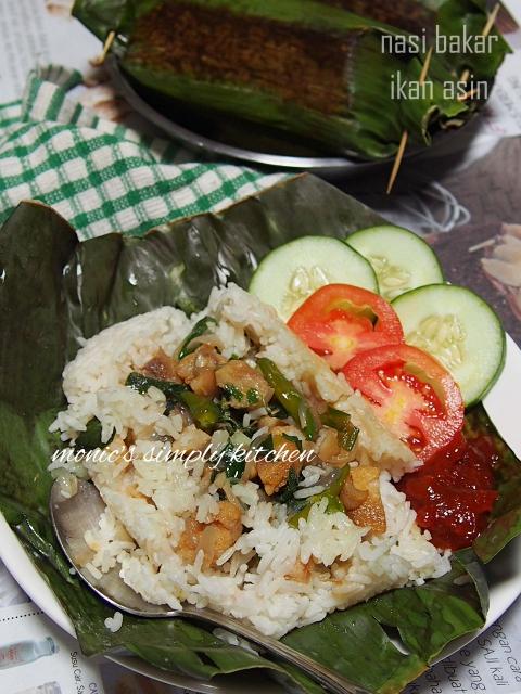 nasi bakar ikan asin
