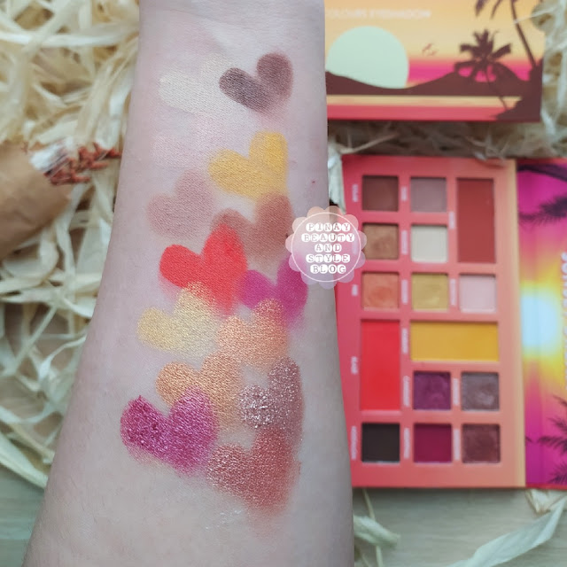 Detail Cosmetics Sunset Dream Swatches