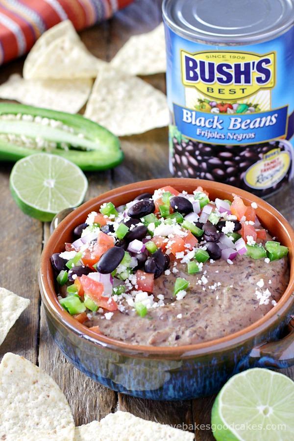 Loaded Mexican Black Bean Hummus