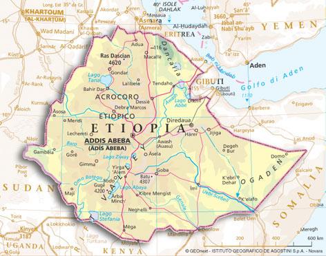 Cartina Eritrea.Riassunto L Etiopia Scuolissima Com