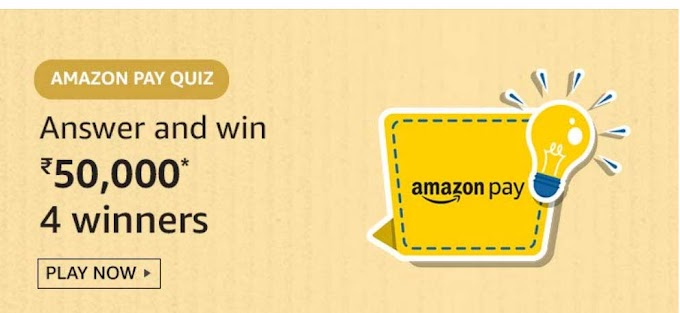 Amazon Pay Quiz Answers Today Win Rs.50000 Pay Balance
