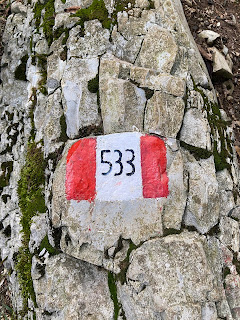 CAI trail marker for sentiero 533