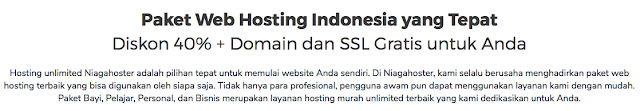 Komitmen Diskon 40% + domain dan SSL gratis