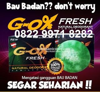 Cara alami menghilangkan bau badan dg cepat G ox fresh deodorant