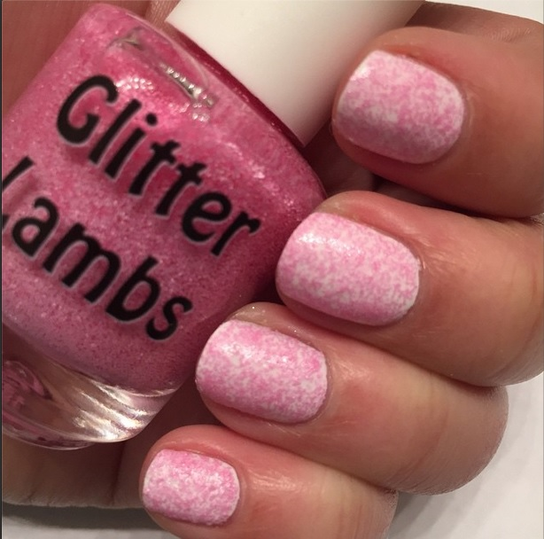Christmas handmade custom indie nail lacquer for the holiday season for your nails. Pink glitter topper nail polishes for Christmas time!