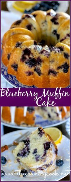 HOMEMADE BLUEBERRY MUFFIN CAKE