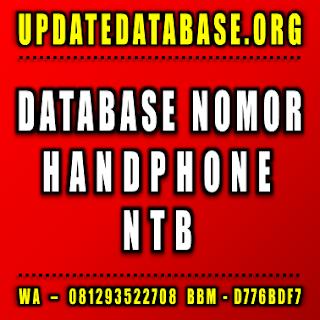 Jual Database Nomor Handphone Nusa Tenggara Barat